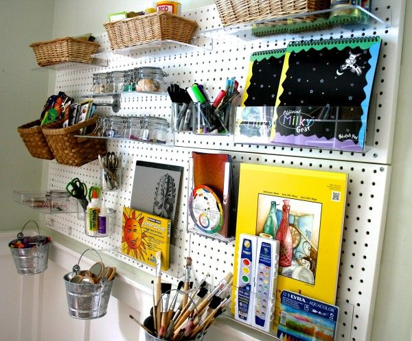 Pegboard Organization follow link in this post to azardisplays.com for amazing pegboard accessories
