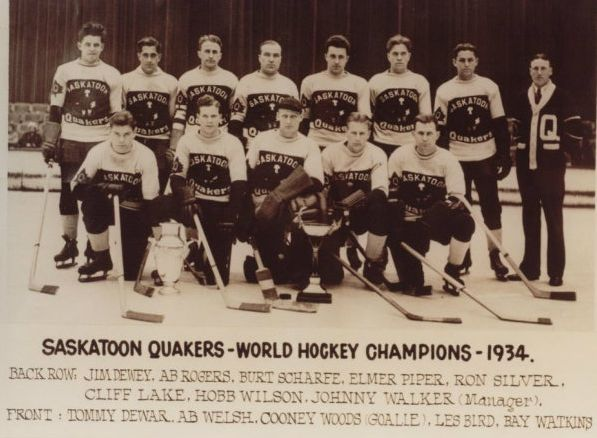 Saskatoon Quakers - World Ice Hockey Champions - 1934