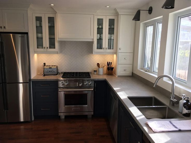 Recently completed project supplied by #MarbleTrend using #Neolith Benton for kitchen countertop