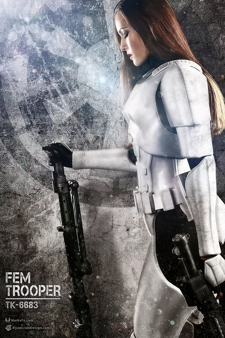 Female Storm Trooper, by Stacey bender, photo by Ryan Crain and Mark Edwards.