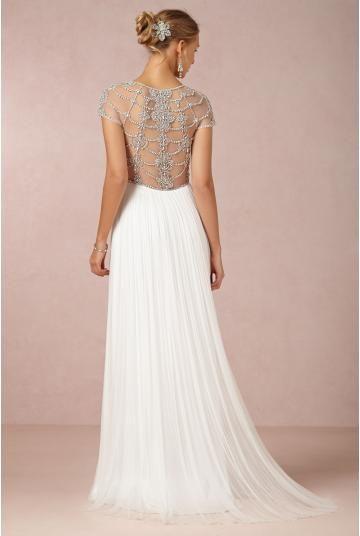 Wunderschöne Schlichte Hochzeitskleider aus Softnetz