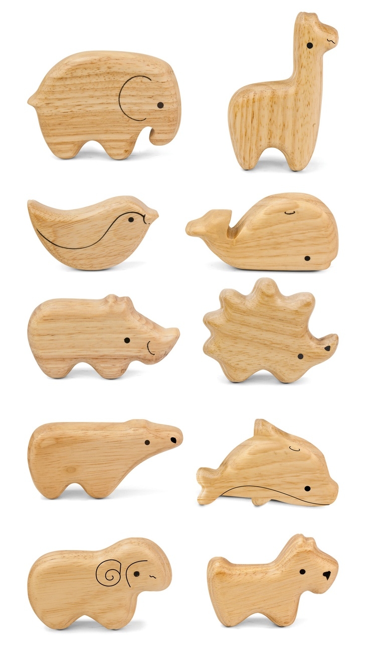 """Adorable 4"""" animal shakers made from eco-friendly Rubberwood produce a soft and gentle sound. #green tones® #eco instruments & toys"""