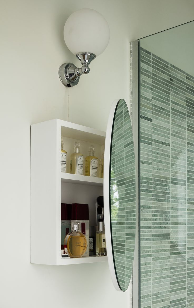 Tadelakt bathroom made by amel kadic - Bespoke Oval Bathroom Wall Mounted Cabinet Donal Murphy Photography Kld Kingstonlaffertydesign