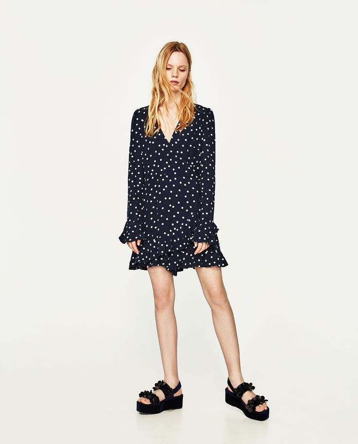 Image 1 of POLKA DOT JUMPSUIT DRESS from Zara