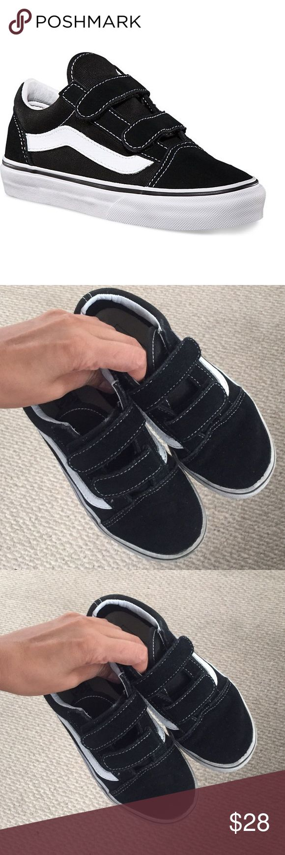 Black vans for kids Size 1.5 excellent condition Vans Shoes Sneakers