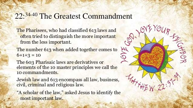 Matthew 22:34-40 The Greatest Commandment