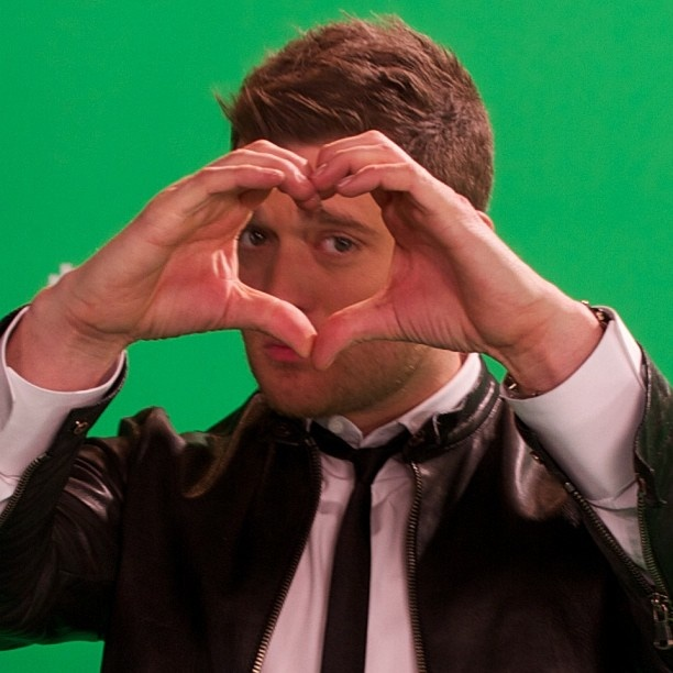 Michael Buble: Then I went spoiled by saying something stupid like I love you!  (♡ his latest album)
