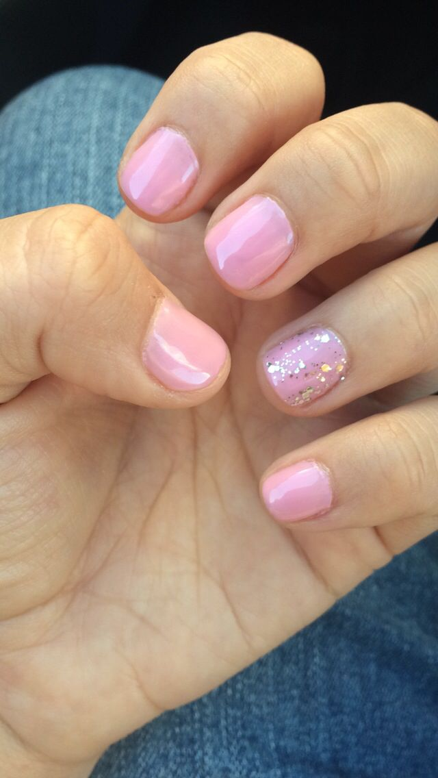 Light baby pink shellac nails | My Style | Pinterest
