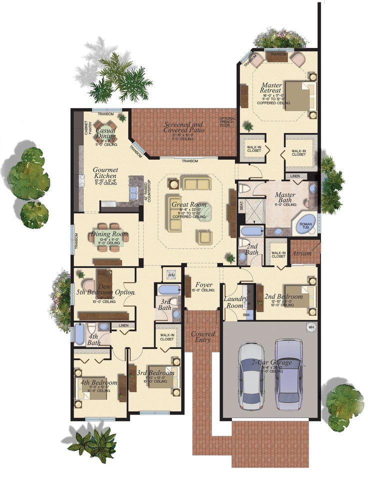 7 best floor plans 200m2 250m2 images on pinterest for Home builder interactive floor plans