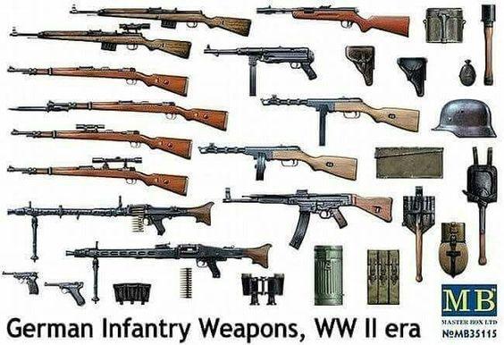 German WW2 infantry weapons