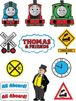 Free Printable Thomas the Tank Engine and Friends Stickers - To use for goody bags and snack labels.