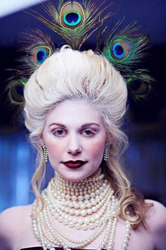 Marie Antoinette inspired photo shoot I did back in 2007! #rococo #peacock #costume #party