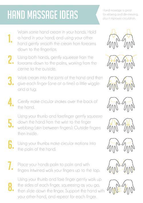 Hand massage instructions hand event
