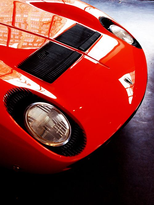 You eyes are the windows to the soul Stare deep into the eyes of the Lamborghini Miura