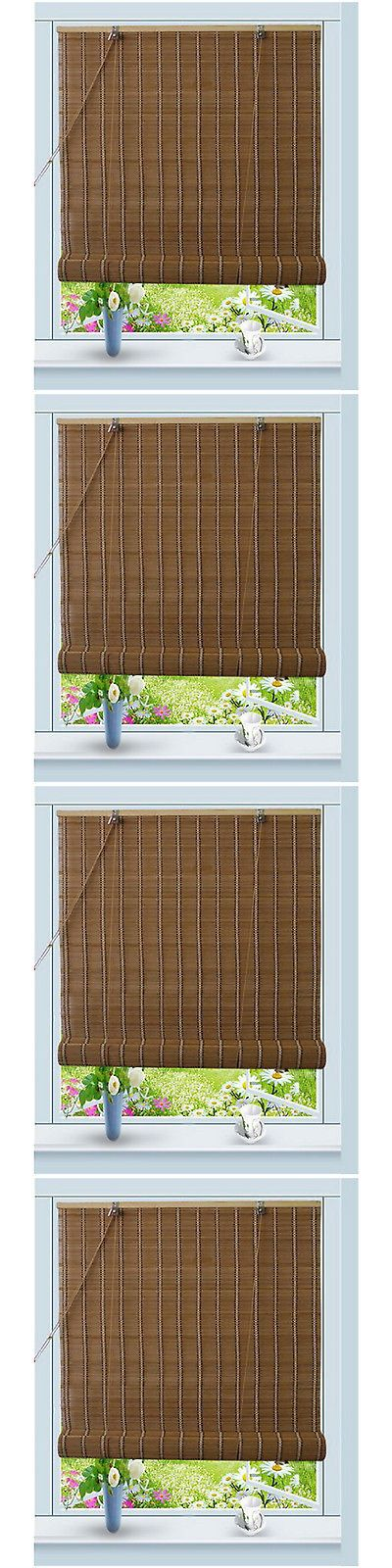 Blinds and Shades 20585: Window Sun Shade Bamboo Brown Blind Natural Roll Up W32 X H72 -> BUY IT NOW ONLY: $37.11 on eBay!