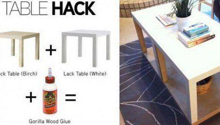20 IKEA Lack Table Hacks