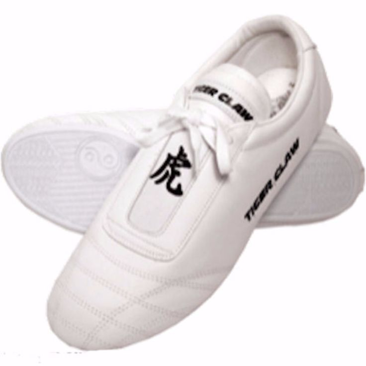 White Martial Arts Taekwondo Shoes by TigerClaw