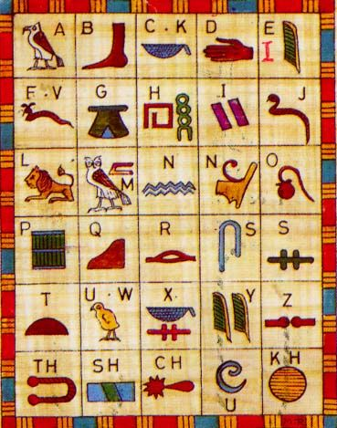 Hieroglyphic alphabet! gives us a vocabulary and helps us write.