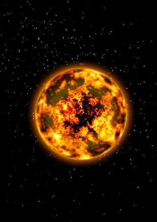 графический солнце
