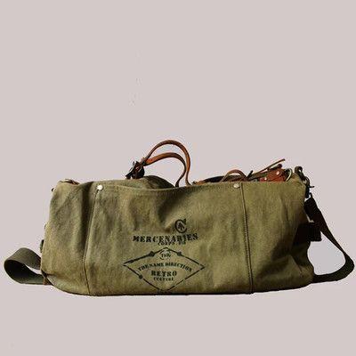 Waxed Canvas Duffle Bag / Weekend Bag / Duffel Bag Men / Men Duffle Bag / Weekender Bag / Leather Duffle Bag / Mens Duffel Bag / Gym Bag(S59)