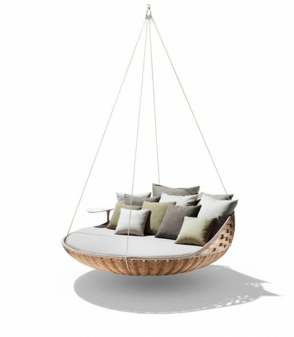 chaise suspendue ronde de design original