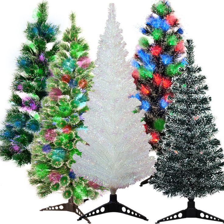 Details Zu Weihnachtsbaum Künstlicher Christbaum Tannenbaum LED Lichtfaser  Kunstbaum Bis 3m