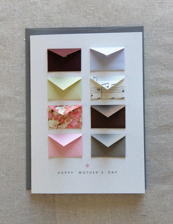 Mother's Day card. Custom envelopes with notes that go inside each of them. $8