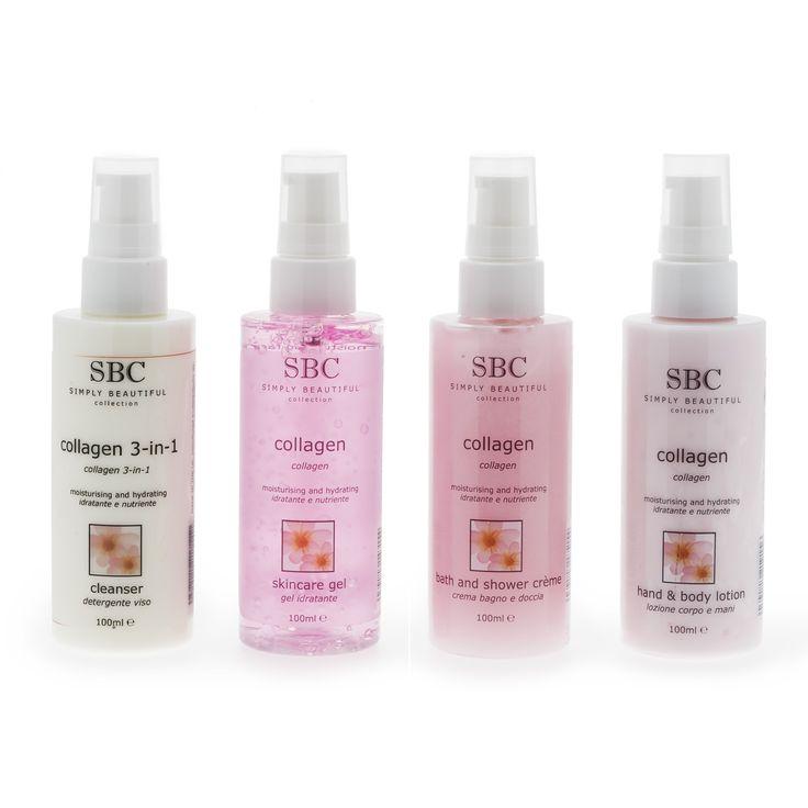SBC ha incluso in questo pratico kit 4 prodotti per scoprire la Linea Collagen e averla sempre con te.