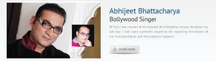 Bollywood well known singer Abhijeet very much satisfied with ILHT hair transplant surgery results.