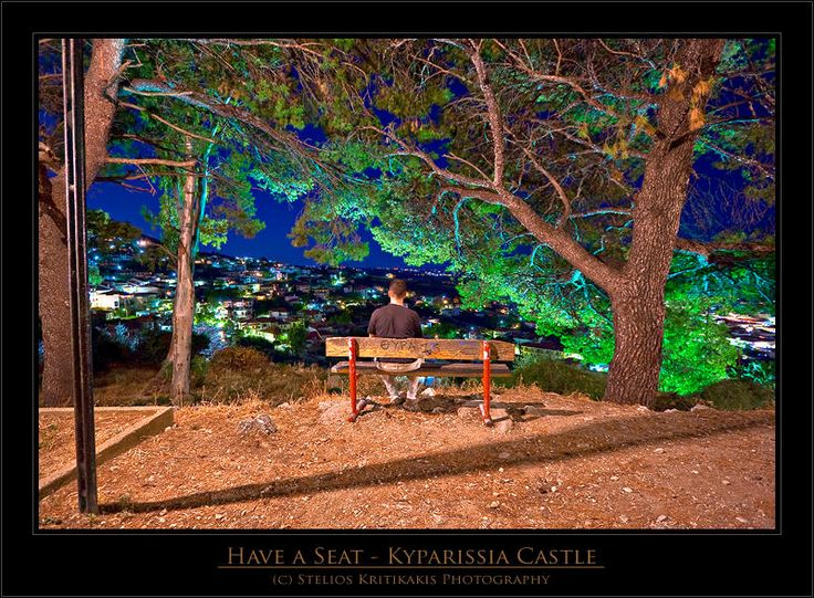 The Bench in Kyparissia that overlooks the town