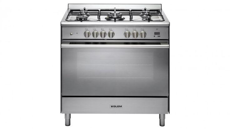 Glem 90cm Freestanding Dual Fuel Cooker - Stainless Steel - Freestanding Cookers - Appliances - Kitchen Appliances | Harvey Norman Australia