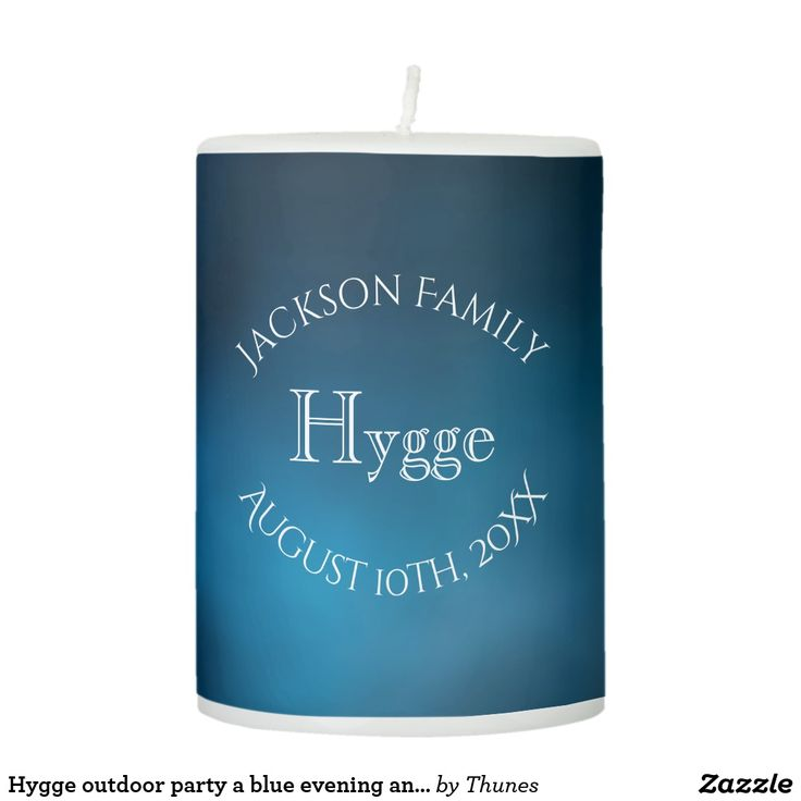 Hygge an evening and night with a pillar candle