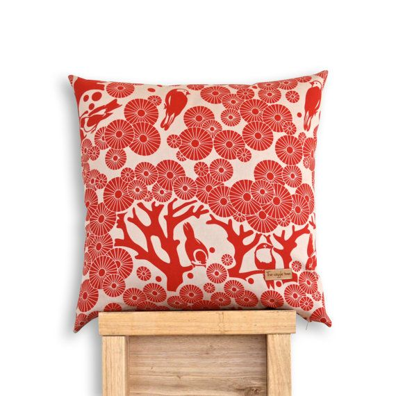 Mikko Square  Screen printed Mikko and Eco Denim by TheWiggleTree, $45.00