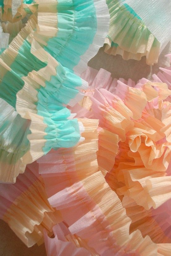 218 best images about crafted color on pinterest - Birthday decorations with crepe paper ...