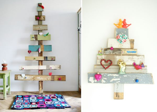 I'm pretty sure no one in my family will go for a recycled christmas tree but these threes are so cool!