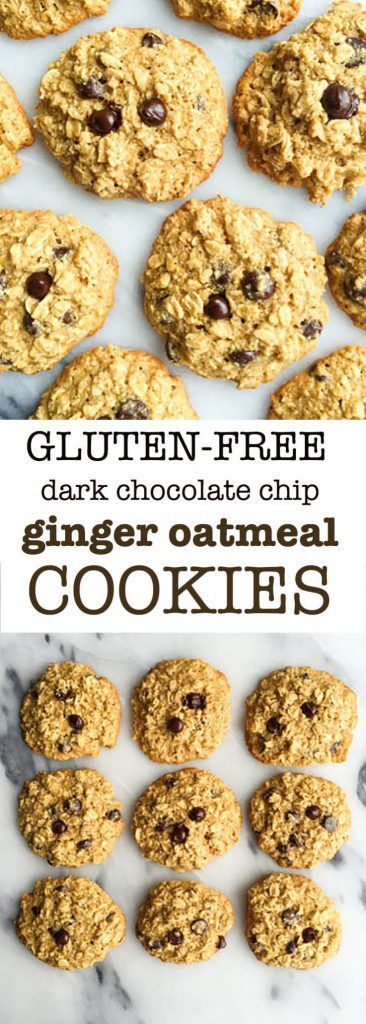 Chocolate Chip Ginger Oatmeal Cookies for an easy dairy & gluten-free ...