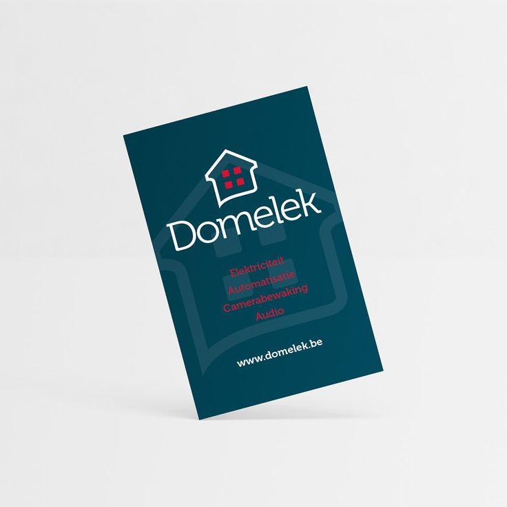 Domelek - Huisstijl realisatie - Communicatie en reclamebureau 2design Roeselare - Grafisch ontwerp, webdesign en apps - Huisstijl - visitekaartje, flyer