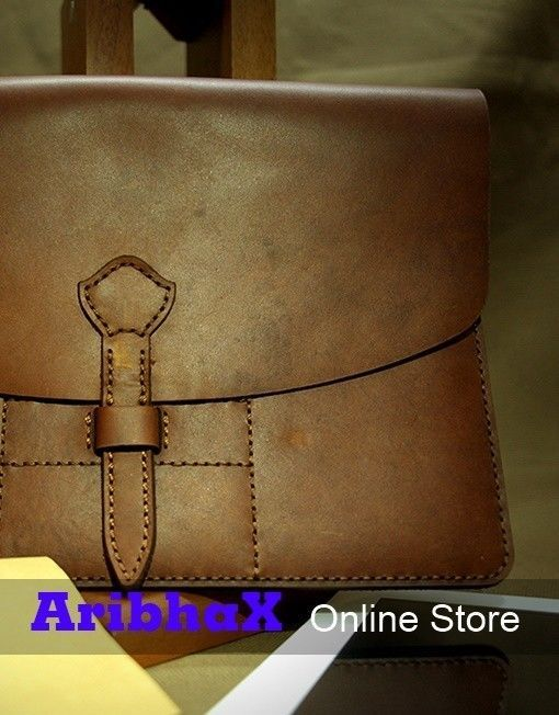 Genuine Pull Up Cow Leather iPad Case Vintage Style #HBLeather
