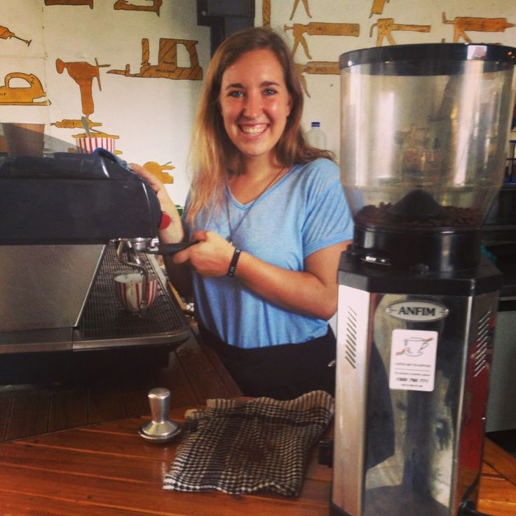 Meet Gracie, one of our baristas and AMAZING Graphic Designers on base. We love serving coffee and talking with the students during morning tea breaks I Youth With a Mission I YWAM Newcastle  www.ywamnewcastle.com