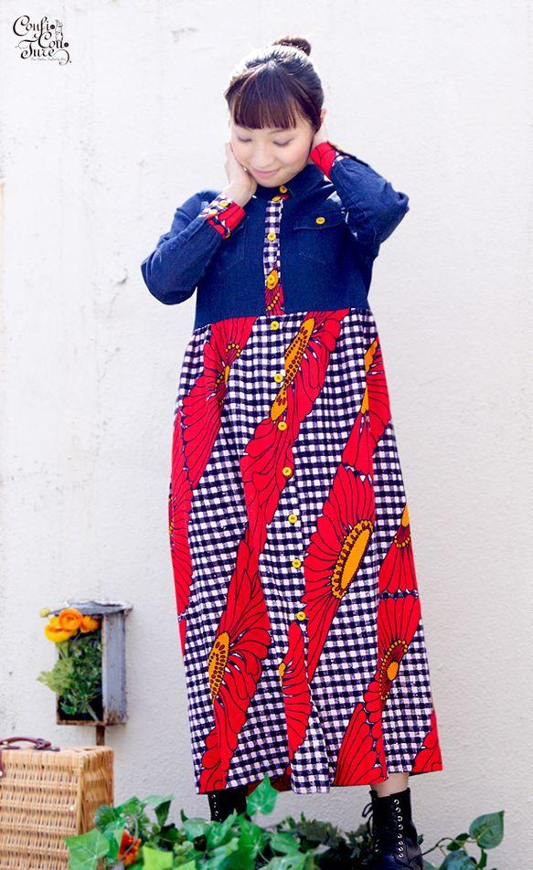 ☆Thank you SOLD OUT☆ストレッチの効いたデニムシャツとマキシ丈巻きスカートを組み合わせました。元々付いていたスナップボタンを全て取り外し、前...|ハンドメイド、手作り、手仕事品の通販・販売・購入ならCreema。