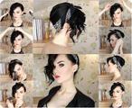 Rockige Sommerfrisur mit Haarband