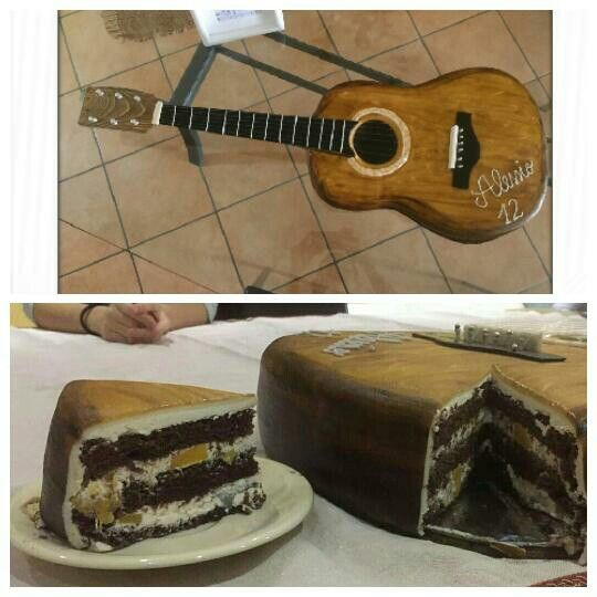 Birthday Guitar cake , torta chitarra per compleanno
