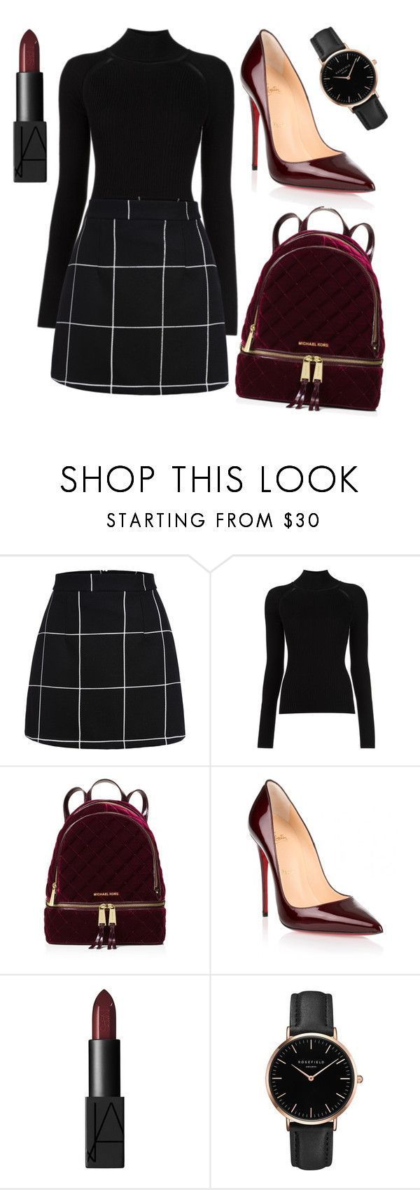 Untitled #72 by sashazaiats on Polyvore featuring Misha Nonoo, MICHAEL Michael Kors, Christian Louboutin, NARS Cosmetics and Topshop