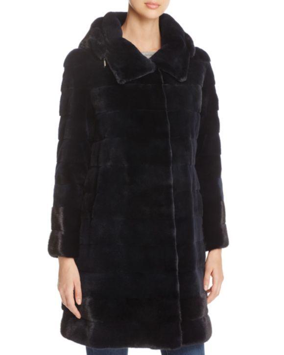 Maximilian Furs Hooded Mink Fur Coat - 100% Exclusive