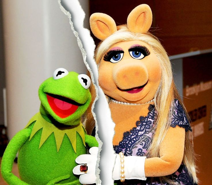 Miss Piggy and Kermit the Frog announce they have officially broken up, but will work together on their fall show The Muppets. Credit: Desiree Navarro/ ...