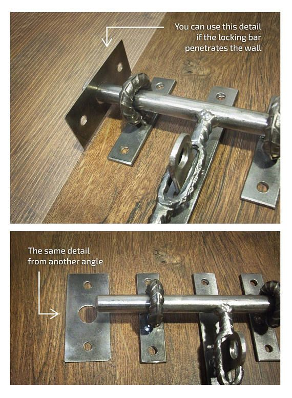 Verrouillage De Porte De Grange Industrielle Pour Des Etsy Barn Door Latch Door Latch Industrial Barn Door
