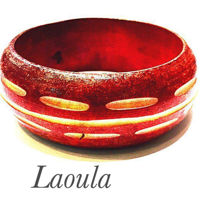 Bracelet en bois rigide bijoux créateur
