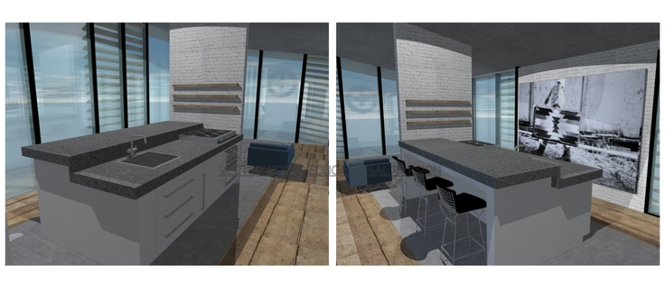 inkijk keuken Guesthouse