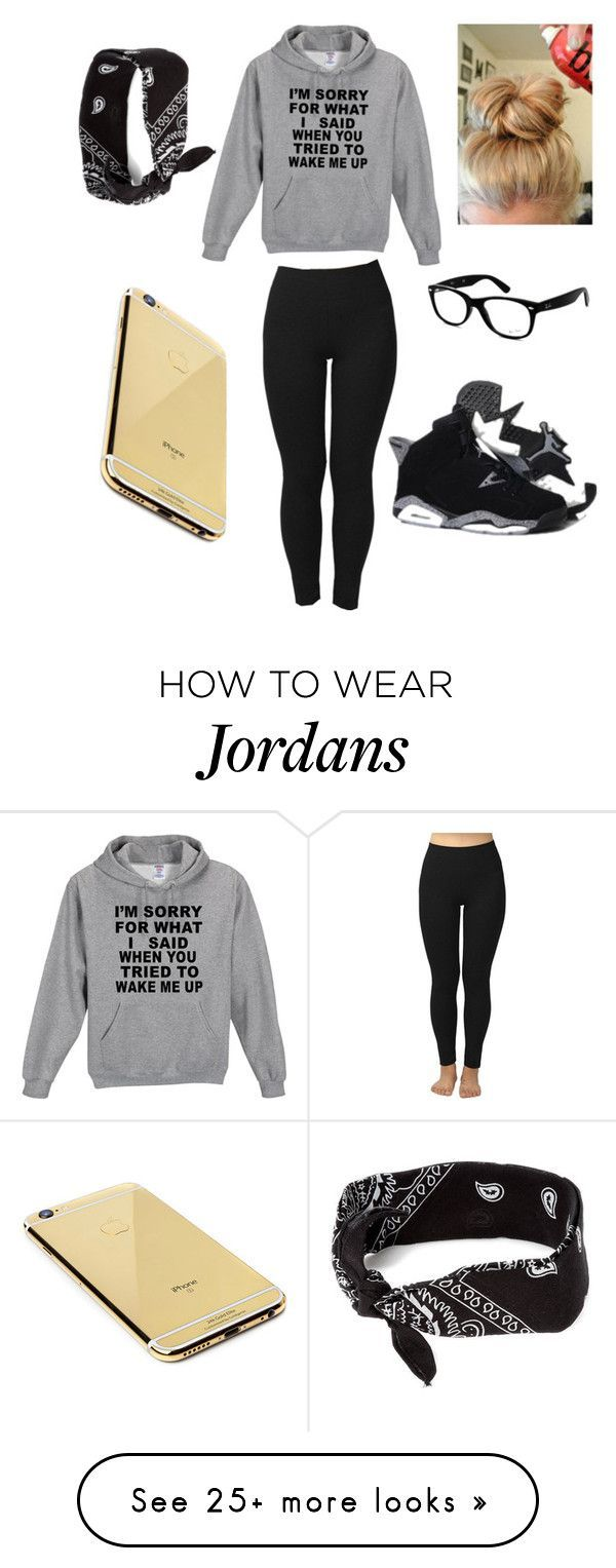 """""""Hanging with bae"""" by lizziehearts4 on Polyvore featuring moda, Ray-Ban, Retrò, Goldgenie i claire's"""