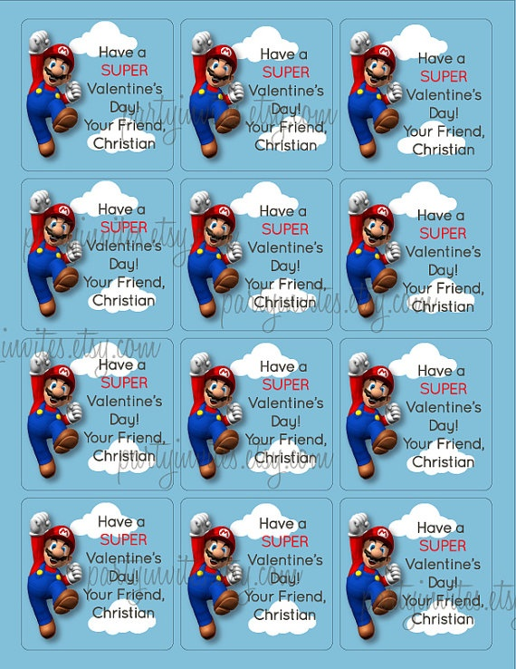 17 Best images about Valentines – Super Mario Bros Valentine Cards